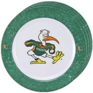 Miami Hurricanes Dinner Plates (Set Of 4) Sports