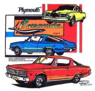 1964 1965 1966 PLYMOUTH CUDA BARRACUDA T SHIRT CC33