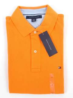 HILFIGER MENS CLASSIC FIT SOLID COLOR SHORT SLEEVE POLO SHIRT