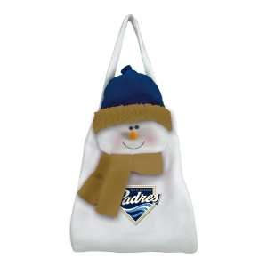San Diego Padres Snowman Winter Holiday Door Sack   MLB Baseball