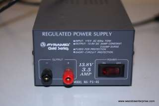 PYRAMID GOLD SERIES PS 4G PS4G REGULATED POWER SUPPLY |