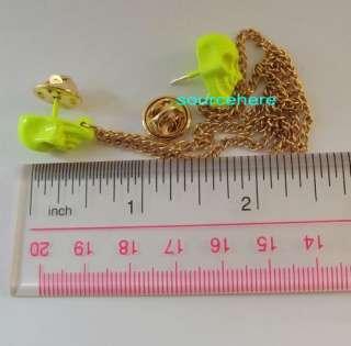 Tips Pins Spike Gold Tone Metal Pyramid Brooch Stud Trendy