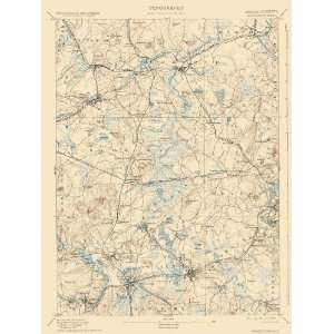 USGS TOPO MAP FRAMINGHAM SHEET MASSACHUSETTS (MA) 1894 Home & Kitchen