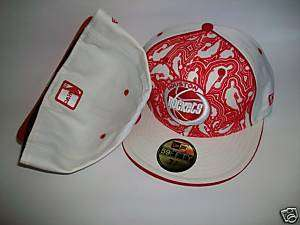 NEW ERA HAT CAP FITTED HOUSTON ROCKETS RED WHITE SIZE 8