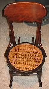 Antique Childrens Rocking Chair   Solid Wood   Local Pickup Only