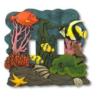 Tropical Fish   2 Toggle Wallplate   CLEARANCE SALE Home