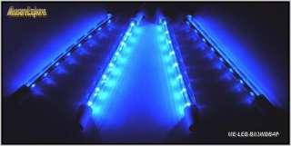 Wide Blue 8  LED Bar floor Aquarium Lighting & Power