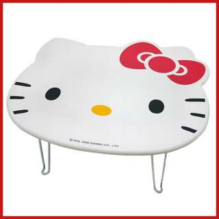 Sanrio Hello Kitty Face Folded Table   Accent /Work Play White