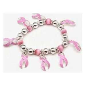 Breast Cancer Pink Ribbon Awareness Bracelet Jewelry