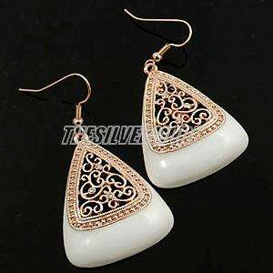 18K Rose Gold Plated Triangle Fashion Earring 12519