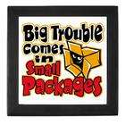 Artsmith Inc Keepsake Box Black Big Trouble Comes In Small Packages
