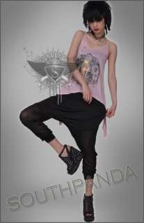 SC143 Fashion Sexy Soft Punk Rock Gothic Lace Tank Top