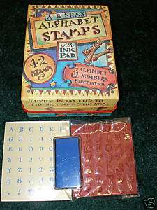 Kids Alphabet & Numbers Stamps With Ink Pad 42 Stamps