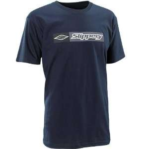 Slippery Mens Short Sleeve T Shirt , Color Navy, Style On the Block