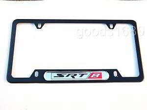 SRT8 Black Chrome Stainless Steel License Plate Frame Holder Jeep