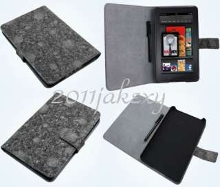 Folio Leather Case+Stylus For  Kindle Fire 7 Tablet