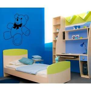 TEDDY BEAR WALL ART MURAL STICKER BABY ROOM T472