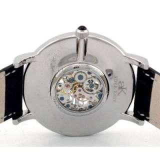 Adee Kaye Mens Mechanical Skeleton Watch AK 5019M