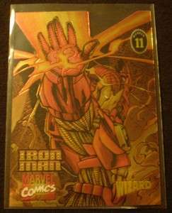 1996 Wizard Magazine Chromium Series #11 Iron Man
