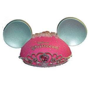 Disney World Princess Pink Tiara Mickey Ears Ear Hat