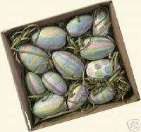 Wooden Easter Egg Assortment Primitives Kathy New