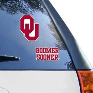 NCAA Oklahoma Sooners 2 Pack 4 x 4 Die Cut Decals