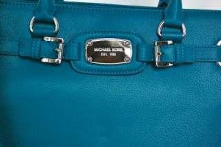 Auth Michael Kors Hamilton E/W Large Tote Handbag Turquoise Blue RARE