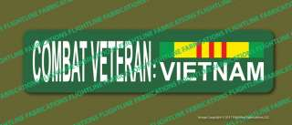 Combat Veteran Vietnam Metal Street Sign with Service Ribbon