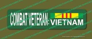 Combat Veteran Vietnam Metal Street Sign with Service Ribbon