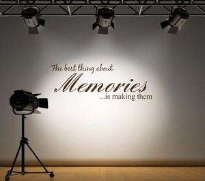 The best thing about memories Wall Art Sticker Mural Decal quote rc 31