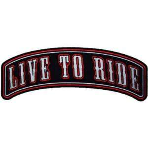 TO RIDE Rocker Biker Embroidered NEW BACK PATCH