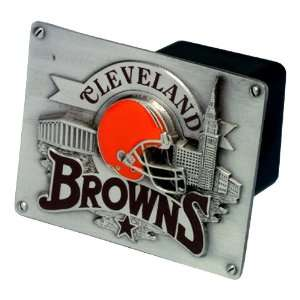 Cleveland Browns NFL Pewter Trailer Hitch Cover by Half