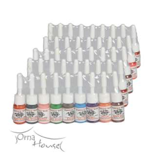 New and High Quality Tattoo Supply 54 Color Ink 5ml/bottle Pigment