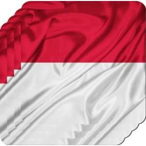 Rikki KnightTM Indonesia Flag   Square Beer Coasters