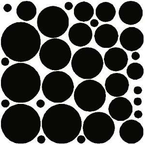 34 BLACK POLKA DOTSWALL STICKERS DECALS ART DECOR