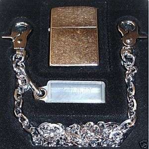 Zippo Zip Chain and Lighter Combo Street Chrome 24414