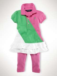 Color Block Polo Legging Set   Infant Girls Sets   RalphLauren