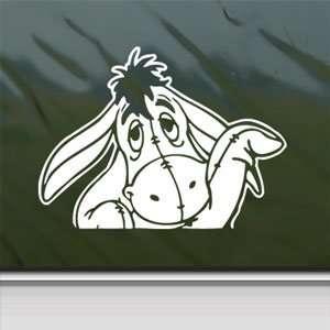 EEYORE White Sticker DONKEY DISNEY POOH WINNIE Laptop
