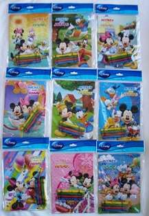Mickey Mouse & Friends Coloring Book with Crayon Set Party Favors