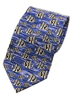 Guy Harvey Mens 100% Silk Sea Animal Print Neck Ties 046403560581