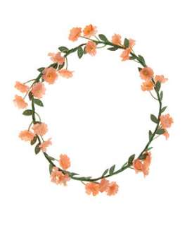 Pink (Pink) Peach Flower Garland  251751470  New Look