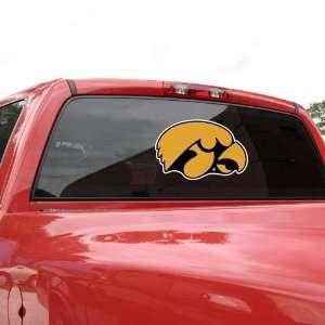Iowa Hawkeyes 11.5 x 7.75 Team Logo Window Decal Sports