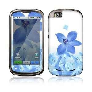 Cliq 2 Begonia Decal Skin Sticker   Blue Neon Flower