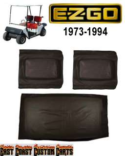 EZGO 1973 1994 Golf Cart (BLACK Vinyl) SEAT COVER Set (