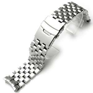 22mm SUPER Engineer Type II Solid Stainless Steel Curved End Watch