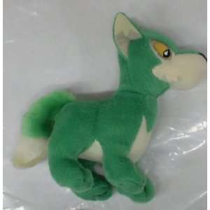Neopets 4 Green Wolf Plush Toys & Games