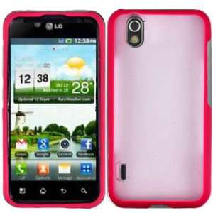 Hot Pink TPU+PC Case Cover for LG Optimus Black P970