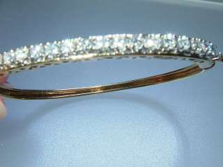 Estate 2.30ct (21) VS Diamond Bangle Bracelet Yellow Gold 14kt