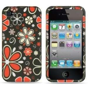 Apple Iphone 4, 4s Phone Protector Hard Cover Case Black