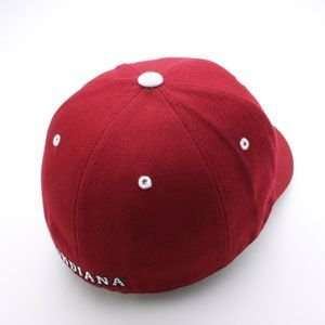 Indiana Hoosiers Team Logo Fitted Hat (Red)  Sports